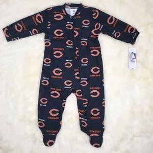 Other - New NFL Chicago Bears Baby Blanket Sleeper Pajamas